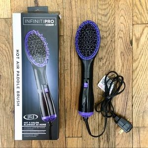Conair InfinitiPRO Hot Air Paddle Brush Purple